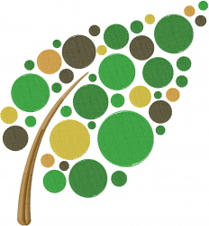 Circle Tree embroidery design