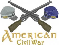 American Civil War embroidery design