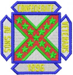 Confederate Veterans embroidery design