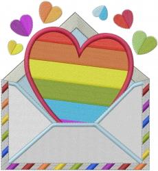 Diversity Valentine  embroidery design