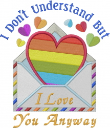 Love You Anyway embroidery design