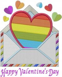ValentineLetter embroidery design