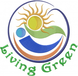 Living Green embroidery design