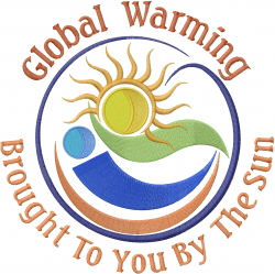 Global Warming embroidery design