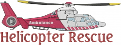 Emergency Helicopter Rescue embroidery design
