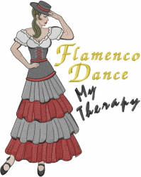 Flamenco Dancer Gypsy embroidery design