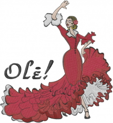 Flamenco Dancer Ole embroidery design
