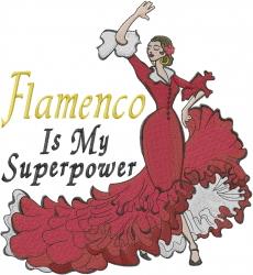 Flamenco Dancer embroidery design