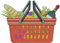 Food Shopping  embroidery design