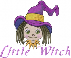 Halloween Little Witch embroidery design