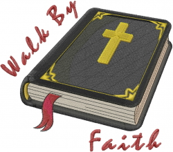 Holy Bible embroidery design