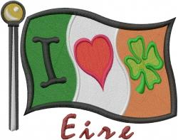 I Love Ireland embroidery design