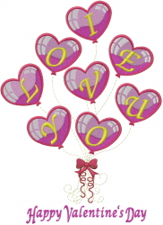 Love Balloons embroidery design