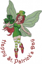 Irish St. Patrick embroidery design