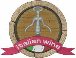 Italian Wine embroidery design