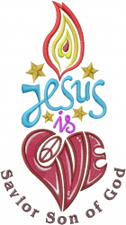 Jesus Love embroidery design
