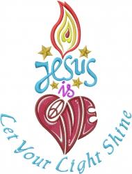 Jesus Love embroidery design