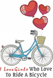 Love Bicycle embroidery design