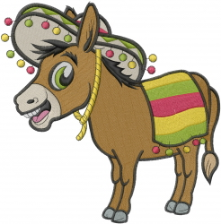 Mexican Donkey embroidery design