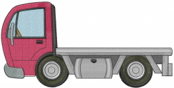 Roll Back Truck embroidery design