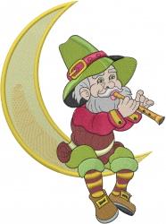 Irish Christmas Moon embroidery design