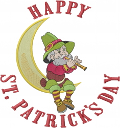 Happy St. Pats Day embroidery design