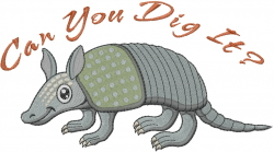 Cute Armadillo embroidery design