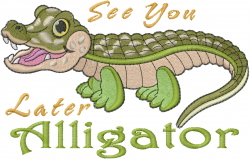 Baby Alligator embroidery design