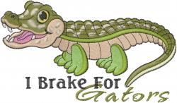 Baby Alligator embroidery design