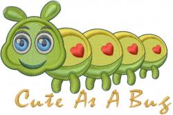 Baby Caterpillar embroidery design