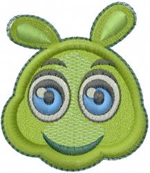 Baby Caterpillar Head embroidery design