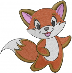 Baby Fox embroidery design