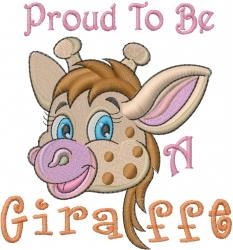 Baby Giraffe Head embroidery design