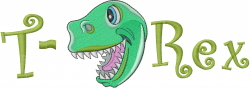 Baby T Rex embroidery design