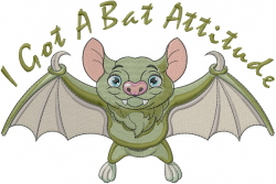 Halloween Baby Bat embroidery design