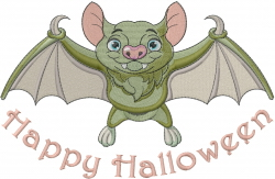 Halloween Baby Bat embroidery design