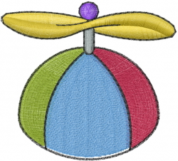 Helicopter Cap embroidery design