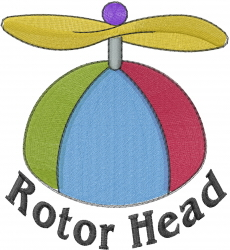 Rotor Head embroidery design