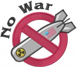 Anti Nuclear War embroidery design