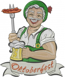 Oktoberfest embroidery design