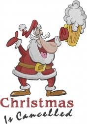 Drinking Santa embroidery design