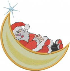 Napping Santa embroidery design