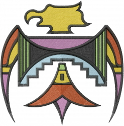Southwest Thunderbird embroidery design