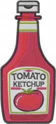Tomato Ketchup embroidery design