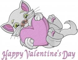 Valentine Kitten embroidery design