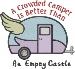 Vintage Camping Trailer embroidery design