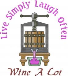 Wine Press embroidery design