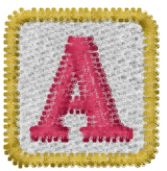 Baby Block A embroidery design