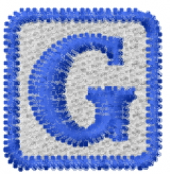 Baby Block G embroidery design
