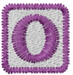 Baby Block O embroidery design